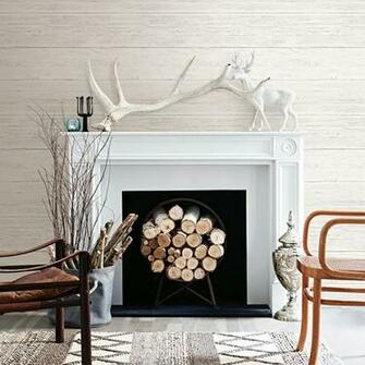 Shiplap Cream White Washed Boards   Wallpaper by A   Streets Prints