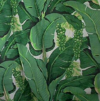 MIS 19826Fabric Cote DAzure   Brazilliance Banana Leaves and Grapes