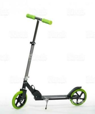 Black Scooter Photo On White Background Stock Photo   Download