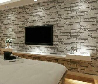 3d stone wallpaper modern wallcovering pvc roll wallpaper brick wall