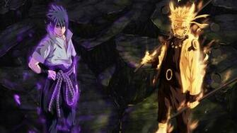 sasuke uchiha sharingan and rinnegan eyes and naruto uzumaki sage of