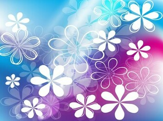 Cute Purple Flowers Backgrounds Cute flowers vector background