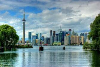 Wallpaper Toronto Ontario Skyline Canada 1920 1200 Picture