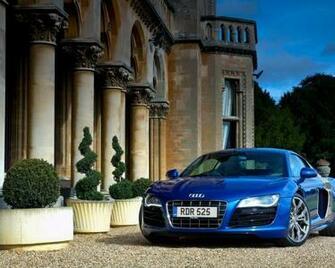 audi r8 v10 carro azul casa carros grandes 1280x1024 Imagens HD