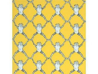 Trellis Wall Paper   Black White Yellow [URB 13212] Animal Wallpaper