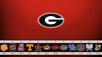 2014 UGA Football Schedule Wallpaper