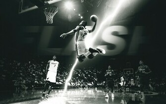 Dwyane wade basketball lightning team jumping photo hd wallpaper