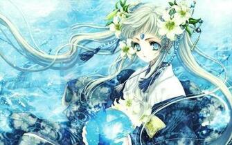 Blue Anime Girl   Wallpaper High Definition High Quality Widescreen
