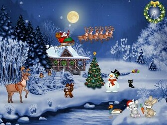 Christmas Screensaver   Christmas Evening   FullScreensaverscom