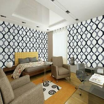 Swirl geometric wallpaper modern pvc roll background wall wallpaper