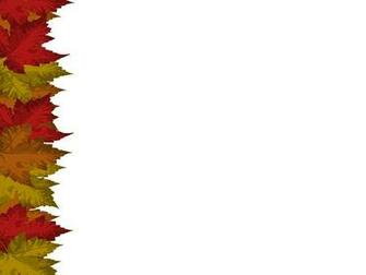 Autumn Leaves Card Card with autumnal maple leaf motif Lots of