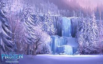 Frozen Waterfall from Disneys Frozen Desktop Wallpaper