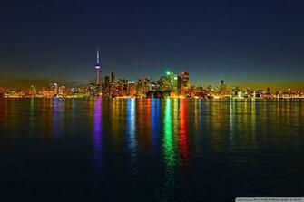 Toronto Skyline at Night HD desktop wallpaper Widescreen High