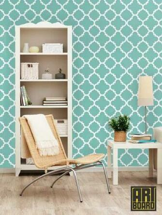 Quatrefoil   self adhesive DIY wallpaper home decor interior wall