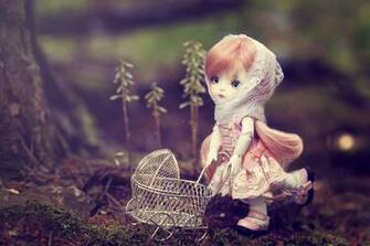 Stroller toys dolls bokeh toy girl girls doll fantasy wallpaper