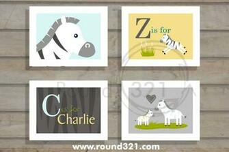 Round321com Products Personalized Name with Zebra Print Background