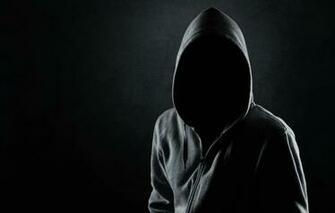 Wallpaper dark black shadows mysterious hooded faceless