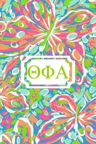 Theta phi alpha Lilly monogram iPhone background made with Monogram