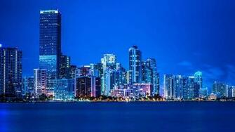 Blue city lights Wallpapers HD HD Desktop Wallpapers