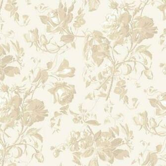 Cream and Beige Floral Trail Toile Wallpaper   Wall Sticker Outlet