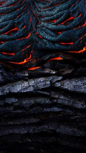 Fiery Stone and Wood Fire Phone Wallpaper Wallpapers For Tech