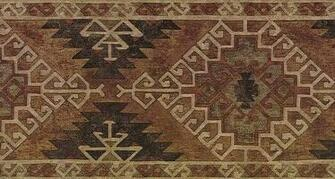Brown Kilim Wallpaper Border   Lodge Outdoors Wallpaper