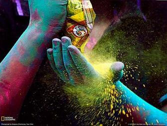 Colored Powder Photo Festival Wallpaper National Geographic Photo