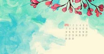 9900 april calendar wallpaper