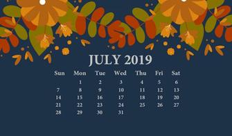 July 2019 Desktop Wallpaper With Calendar Desk Calendar in 2019
