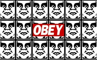 Obey graffiti stencils anarchy humor texts dark sadic wallpaper