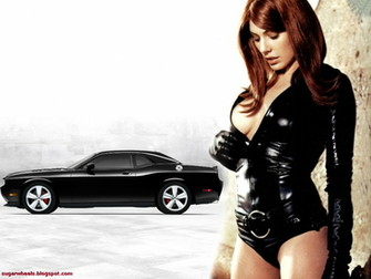 Krista Allen Dodge Challenger Wallpaper