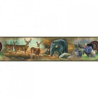 Great Outdoors Wall Border Peel Amp Stick Wallpaper Wildlife Hunting