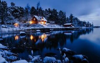 Winter Night Desktop Wallpaper
