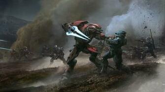 Halo Reach Elite Battle Spartan Wallpaper Background 4K Ultra HD