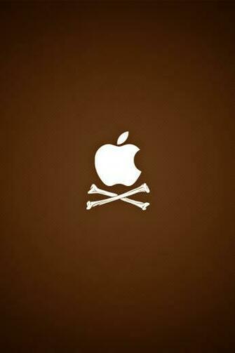 iPhone iBlog Pirate Apple Logo iPhone 4 Wallpapers