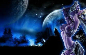 night elf wallpaper by eos429 fan art wallpaper games 2009 2015 eos429