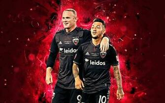 Download wallpapers Wayne Rooney Luciano Acosta abstract art DC