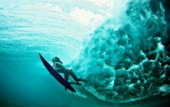 terralonginqua Underwater surf girl wallpaper