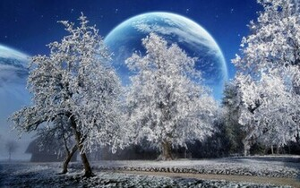 Download Winter Scenery PowerPoint Backgrounds PowerPoint E