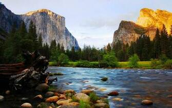 El Capitan And Bridalveil Yosemite National Park California Wallpaper