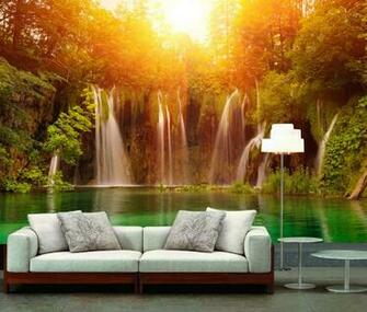 Buy Mural wallpaper waterfall tv sofa background wall mural wallpaper