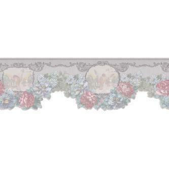 Light Grey Floral Border   Tools   Painting Supplies   Wallpaper