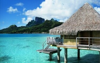bora bora desktop beach wallpaper 1920x1080 Desktop Backgrounds