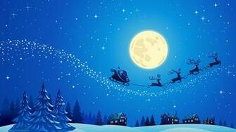 Download 1600x900 Santa Into The Winter Christmas Night 2 Wallpaper