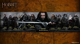 The Hobbit 13 dwarves desktop wallpaper