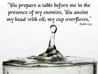 Psalm 23 5 Wallpaper Psalm 23 5 Papel de Parede