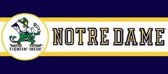 Notre Dame Fighting Irish 7 Tall Wallpaper Border