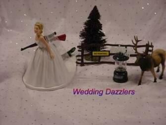 4706 custom elk hunter camo themed groom atv wedding cake topper ce1