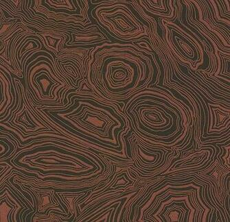 Wallpaper Metallic copper and black malachite effect wallpaper