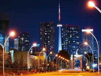 Download wallpaper Toronto city night lights desktop wallpaper